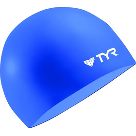 TYR Wrinkle Free Silicone Swimming Cap Blue